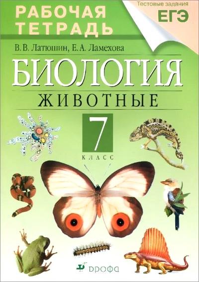биология за 7 класс в таблицах